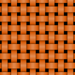Orange knitted pattern