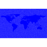 Inverse Tiled Wireframe World Map Minus Antarctica Blue