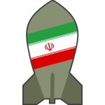 Vector graphics of hypothetical Iranian nuclear bomb