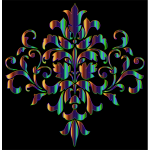 Iridescent Damask Design