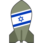 Vector drawing of hypothetical Israeli nuclear bomb