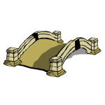 Vector illustration of old stone bridge