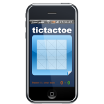 Iphone with tictactoe game on screen vector image