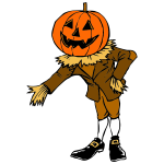 Pumpkin guy clip art