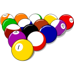 Vector image of billiard ball