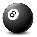 Vector clip art image of pool ball 8