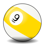 Vector clip art of pool ball
