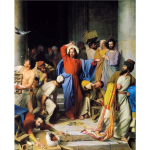 Jesus Casting Out Money Changers By Carl Heinrich Bloch
