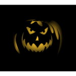 Jack-O-Lantern in the dark vector image