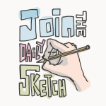 Vector image of join the daily sketch poster
