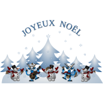 Vector illustration of Merry Christmas card in French