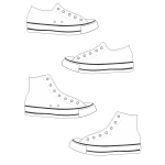 Keds shoes and boots vector image