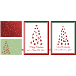 Vector image of set of Christmas cards in English and German
