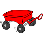 Toy wagon vector graphics
