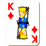 King of Diamonds gaming card vector image