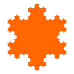 Vector clip art of spiky snowflake