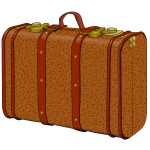 Suitcase with stains