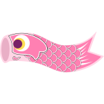 Pink Koinobori vector illustration