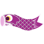 Vector image of purple Koinobori