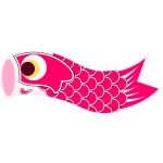 Vector illustration of red Koinobori
