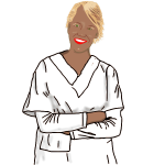 Vector image of a blond medical nurse