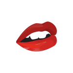 Vector illustration of sensual woman mouth