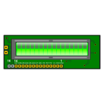 LCD on a PCB