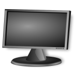 LCD Screen vector drawing