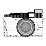 Vector illustration of amateur camera