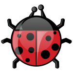 Ladybug in cartoon style