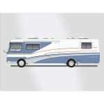 Land yacht motorhome bus vector image