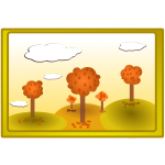 Fall nature landscape vector illustration