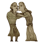 Laws of Hywel Dda Kissing couple cropped