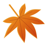 Orange autumn leaf vector image