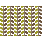 Leafy pattern vector image