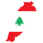 Lebanon Map Flag