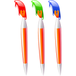 Three paint brushes vector image