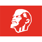 Vector clip art of Leninist flag