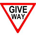Give way sign roadsign vector image