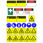 Safety signs collection vector image