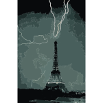Lightning striking the Eiffel Tower NOAA 2016122127