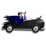 Little Dracula driver vector clip art