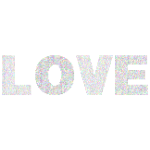Love Fractal Typography Prismatic