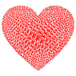 Love Heart Word Cloud Red