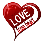 Love from heart decoration vector illustration