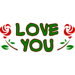 ''Love you'' vector image