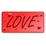 Love signpost with hearts vector image