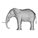Low Poly 3D Elephant