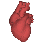Low Poly 3D Heart Red