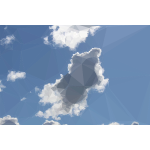 Low Poly Blue Sky 11
